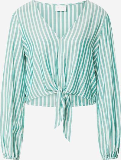 VILA Bluse 'Harper' in grün / weiß, Produktansicht
