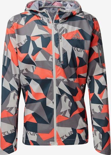 ADIDAS PERFORMANCE Sportjacke ' Own the Run ' in marine / grau / pink / weiß, Produktansicht
