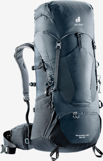 DEUTER Sports Backpack 'Aircontact Lite 50 + 10' in Navy / White, Item view