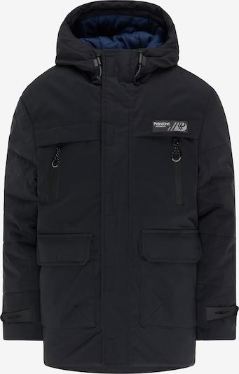 Petrol Industries Winterjas in de kleur Hemelsblauw / Zwart / Wit, Productweergave