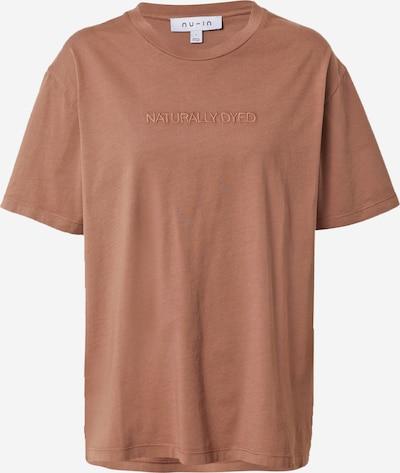 NU-IN T-shirt oversize en marron, Vue avec produit
