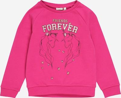 NAME IT Sweatshirt 'VENUS ' in pink / schwarz / weiß, Produktansicht