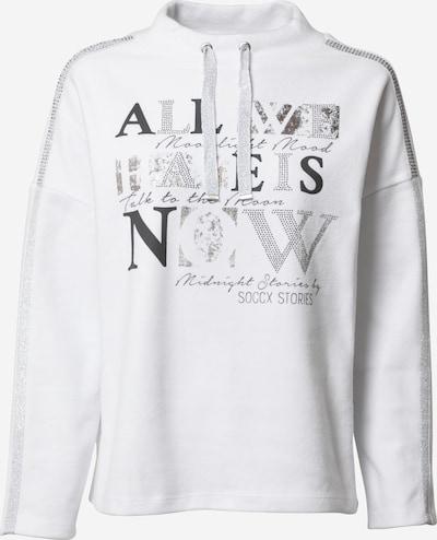 Soccx Sweatshirt 'Oh La La Paris' in Silver / White, Item view