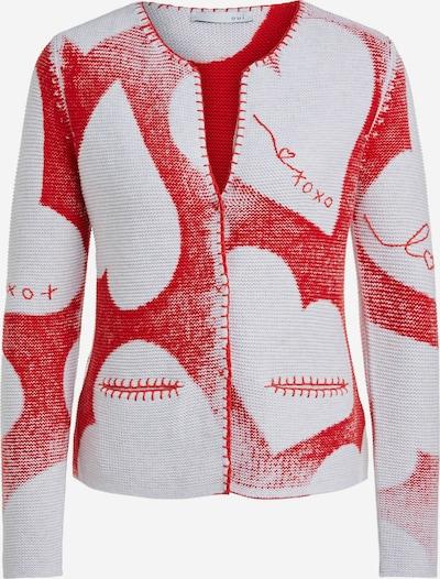 OUI Strickjacke in rot / weiß, Produktansicht