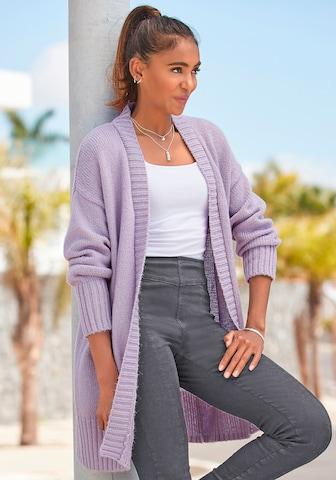 LASCANA Knit Cardigan in Purple
