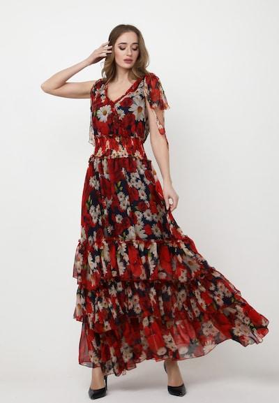Madam-T Kleid 'Nikoletta' in nachtblau / rot / weiß, Modelansicht