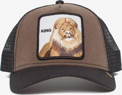 GOORIN Bros. Pet 'King' in de kleur Mokka / Gemengde kleuren / Zwart, Productweergave