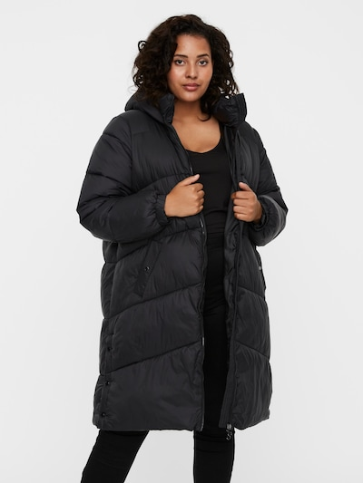 Vero Moda Curve Mantel 'Upsala' in schwarz, Modelansicht