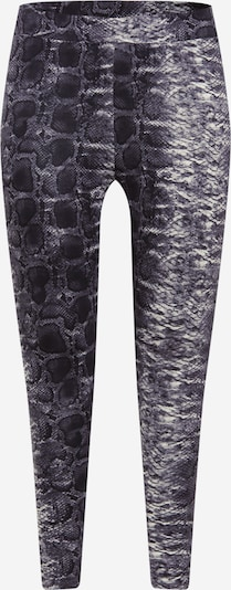 ONLY Carmakoma Leggings in de kleur Grijs / Zwart, Productweergave