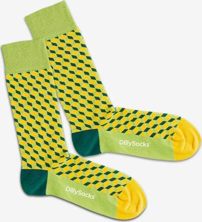 DillySocks Socken  'Banana Tree Dice' in gelb / apfel / grasgrün, Produktansicht