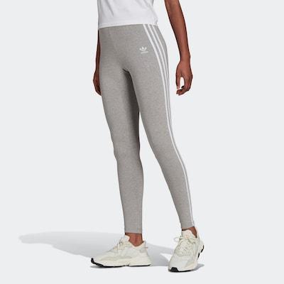 ADIDAS ORIGINALS Leggings in graumeliert / weiß, Modelansicht