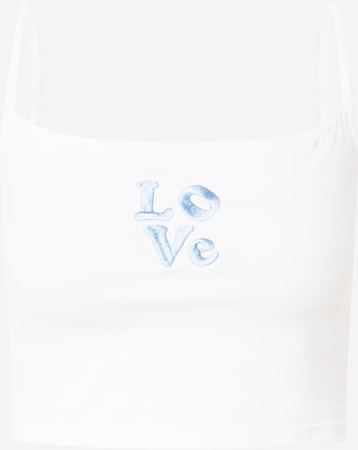Motel Top 'RAWI' in de kleur Lichtblauw / Wit, Productweergave