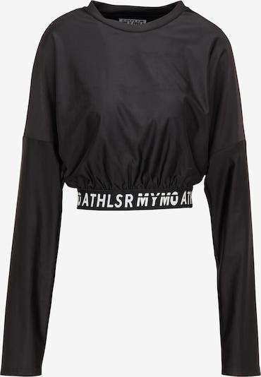 myMo ATHLSR Shirt in schwarz / weiß, Produktansicht