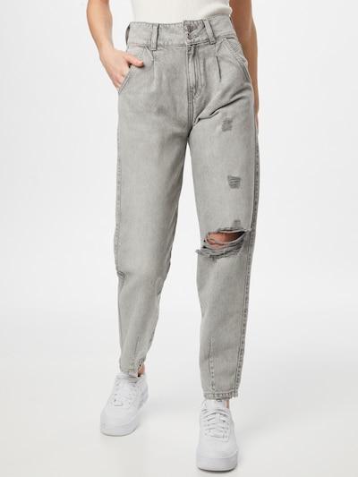 Tally Weijl Bandplooi jeans in de kleur Grey denim, Modelweergave