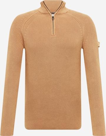 JOOP! Jeans Kampsun 'Henricus', värv pruun