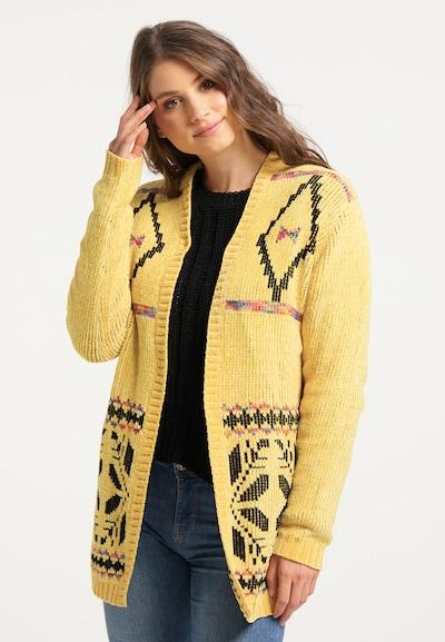 IZIA Cardigan in gelb / mischfarben, Modelansicht