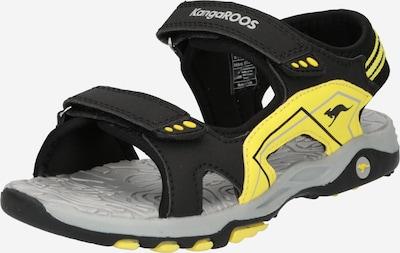 KangaROOS Otvorená obuv 'Everest' - žltá / svetlosivá / čierna, Produkt