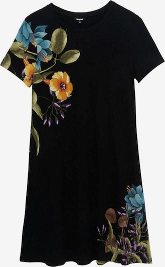 Desigual Ljetna haljina 'LAS VEGAS' u tamno smeđa / žuta / maslinasta / tamno narančasta / crna, Pregled proizvoda
