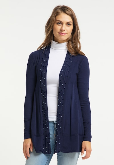 Usha Cardigan in dunkelblau, Modelansicht