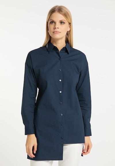 RISA Bluse in marine, Modelansicht