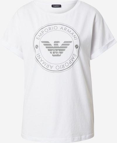 Emporio Armani Majica za spanje | siva / bela barva, Prikaz izdelka
