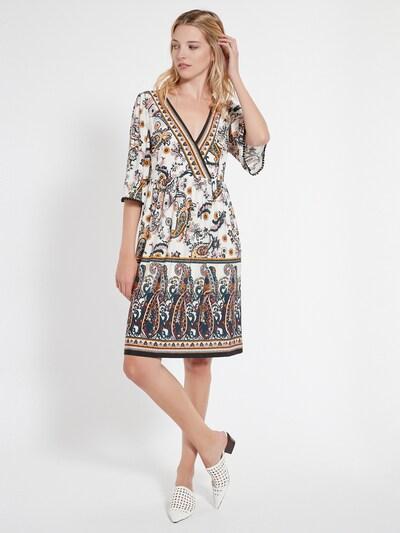 Ana Alcazar Kleid ' Celos ' in safran / rosé / schwarz / weiß, Modelansicht