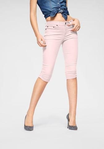 ARIZONA Caprijeans in Pink