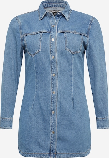 Missguided Plus Košilové šaty - modrá džínovina, Produkt