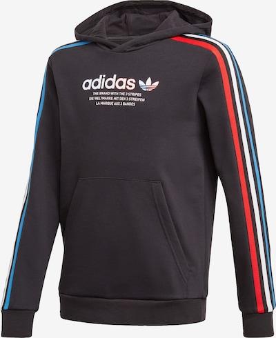 ADIDAS ORIGINALS Hoodie in blau / hellrot / schwarz / weiß, Produktansicht