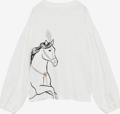 MANGO KIDS T-Shirt in schwarz / weißmeliert, Produktansicht