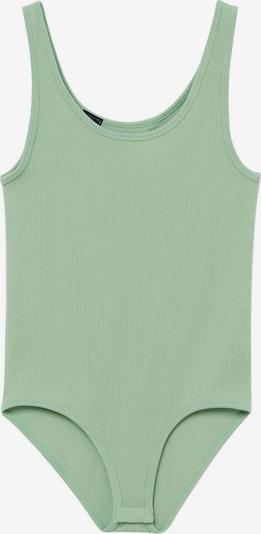 MANGO Тениска боди 'Sinatra' в пастелно зелено, Преглед на продукта