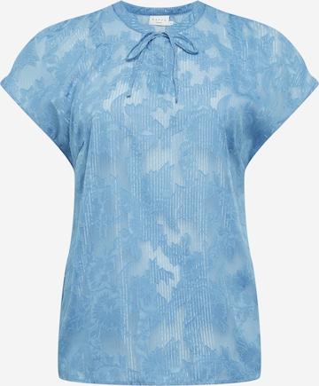 KAFFE CURVE Bluse 'Metty' in Blau