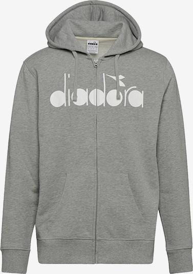 Diadora Sweatjacke in grau / weiß, Produktansicht