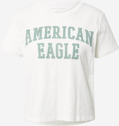 Tricou American Eagle pe verde smarald / alb, Vizualizare produs