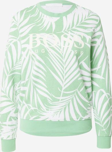 BOSS Casual Sweatshirt in Light green / White, Item view