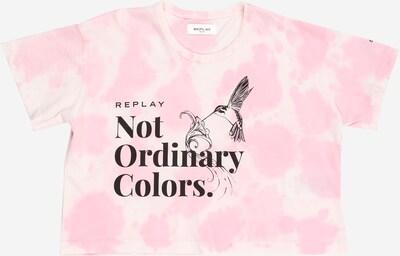 REPLAY Тениска в розово / черно / бяло, Преглед на продукта