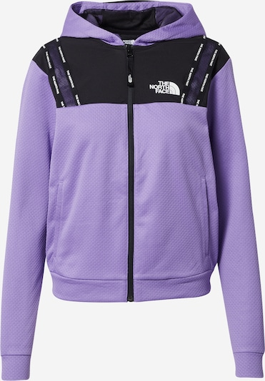 THE NORTH FACE Sweatjacke in flieder / schwarz / weiß, Produktansicht