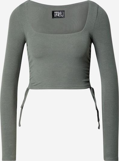 Parallel Lines Shirt in de kleur Pastelgroen, Productweergave
