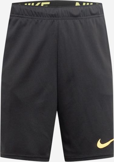 NIKE Sportbroek in de kleur Geel / Zwart, Productweergave