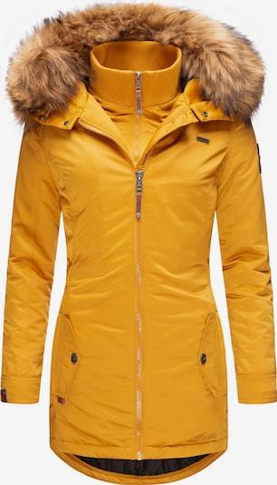 MARIKOO Wintermantel 'Sanakoo' in gelb, Produktansicht