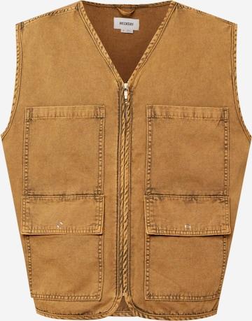 WEEKDAY Vest 'Earn' in Brown
