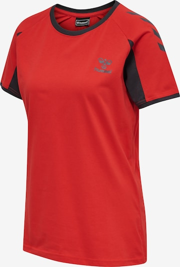 Hummel Shirt in anthrazit / rot, Produktansicht