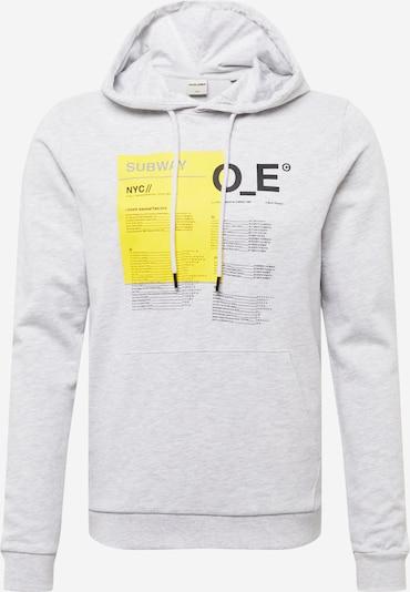 JACK & JONES Sweatshirt 'Tyler' i gul / ljusgrå / svart, Produktvy