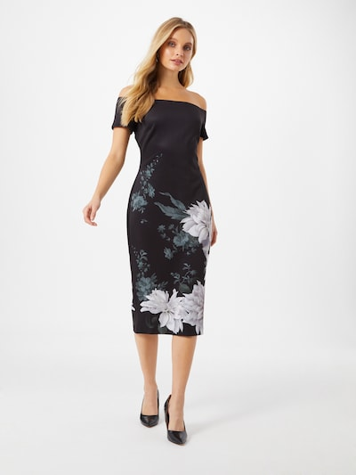 Ted Baker Společenské šaty 'Peaony' - smaragdová / lenvandulová / černá, Model/ka