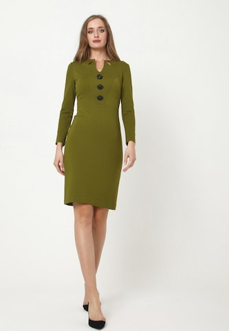 Madam-T Sheath Dress 'DIARA' in Green