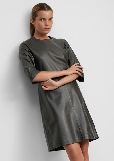 Marc O'Polo Jurk ' aus softem Lammleder ' in de kleur Zwart, Modelweergave