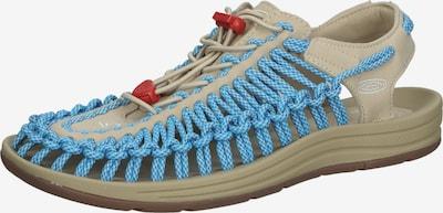 KEEN Sandaal in de kleur Beige / Blauw / Rood, Productweergave