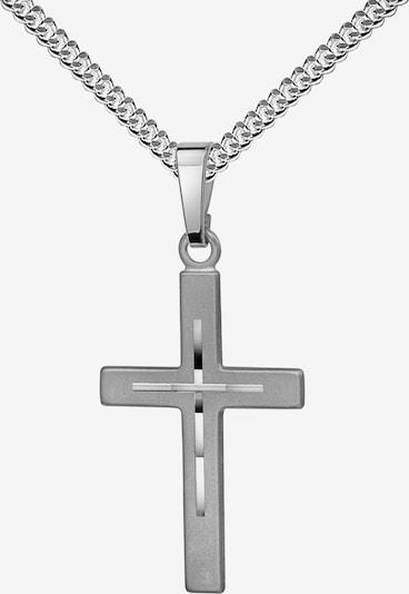JEVELION Kreuz Anhänger 925 Silber + Kette in silber, Produktansicht