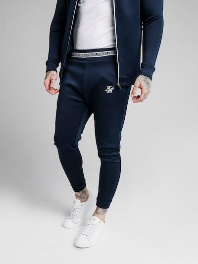 SikSilk Nohavice - námornícka modrá / biela, Model/-ka