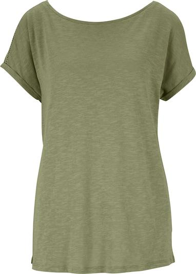 Tricou heine pe auriu / oliv, Vizualizare produs